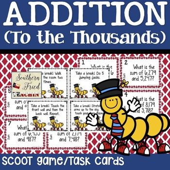 Addition/Sum Scoot Game/Task Cards
