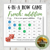 Addition 4-in-a-row game: French