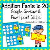 Addition 5-20 Interactive Google Slides Seesaw Powerpoint
