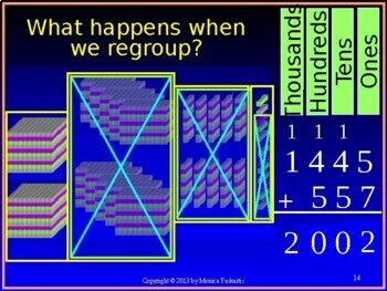 Common Core 3rd - Addition 5 - 4 or More Digits with Regrouping