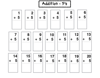 Addition - 5's (1st thru 2nd)