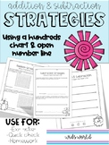 Addition AND Subtraction within 100 - Open Number Line & Hundreds Chart
