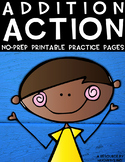 Addition Action {2-Digit Addition No Prep Practice Printables}