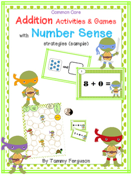 Addition Activities & Games with Number Sense strategies (sample)