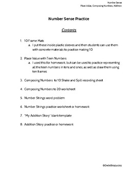 Addition Activities and Templates for Grade 1 Ontario