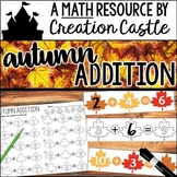Addition Activities and Worksheets for Fall