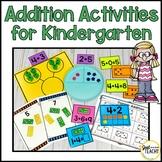 Addition Activities and Worksheets for Kindergarten