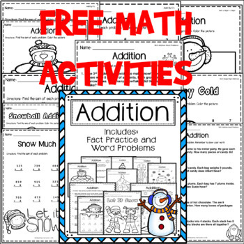 Addition Activities for Winter