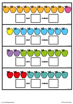 Addition Activity - Add the Apples - Write n Wipe