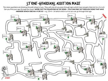 Addition Activity - Addition Maze Bundle - 6 Pack! - aMAZEing