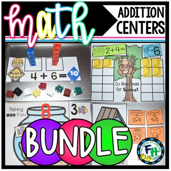 Addition Activity Centers BUNDLE {Add to 10}