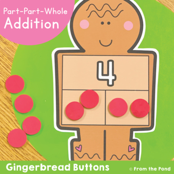 Addition Activity - Gingerbread Buttons - Part Part Whole Strategy