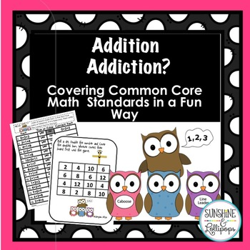 Math Addition Games, Centers and Worksheets Aligned with Common Core