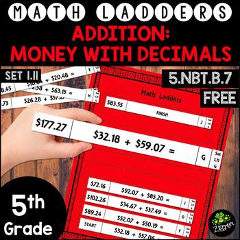 Addition - Adding Money -  Set 1.11 {Math Ladders}