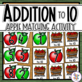 Apple Addition - Adding to 10 - Apple memory card game practicing addition to 10