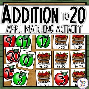 Addition - Adding to 20 apple memory game