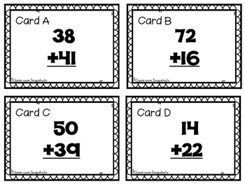 Addition Adventure -- 2 & 3 digit with & without regrouping QR Code Task Cards