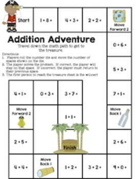 Addition Adventure Game