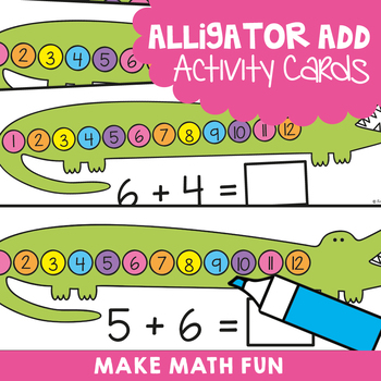 Addition Activity Cards {Write n Wipe}