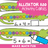 Addition Activity Cards Alligator Add