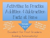 Addition And Subtraction Facts HOMEWORK {1st Grade}