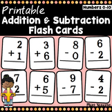 Child-Sized Addition And Subtraction Flash Cards for Numbers 0-10