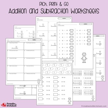 Addition And Subtraction Sheets for Practice