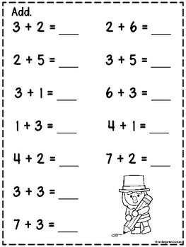 Addition And Subtraction Practice Pages For March