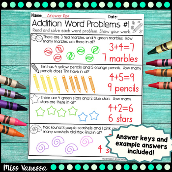 Addition And Subtraction Word Problems Worksheets for Numbers 0-10