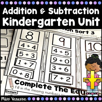 Addition and Subtraction Kindergarten Unit