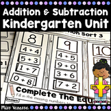 Kindergarten Addition And Subtraction Unit for Numbers 0-1