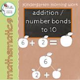 Addition Apples Morning Work