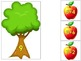 Addition Apples Numbers to 15 Math Center Activity