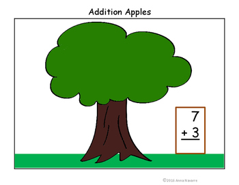 Addition Apples with Sums to 20