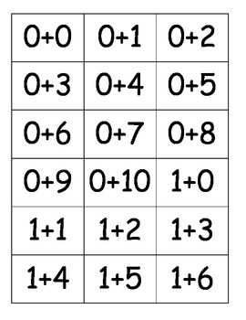 Addition Apples within 10 Cake Walk Style Write the room 7 Games in All