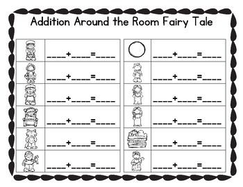 Addition Around the Room Fairy Tales