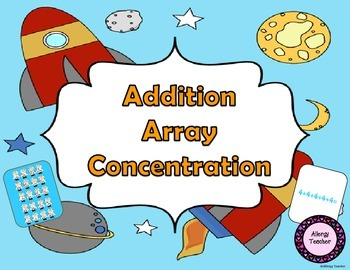 Addition Array Concentration Math Game