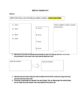 Addition Assessment
