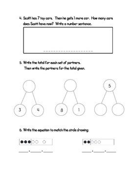 Addition Assessment- First Grade