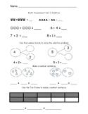 Addition Assessment Kindergarten/ Evaluacion de sumas para Kinder