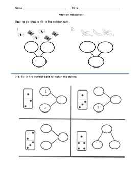 Addition Assessment - Numbers to ten