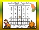 Addition BINGO With 2 Dice - Autumn Edition