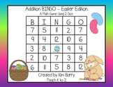 Addition BINGO With 2 Dice - Easter Edition
