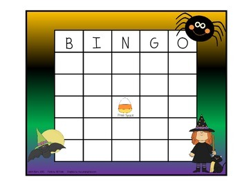 Addition BINGO With 2 Dice - Halloween Edition