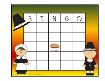 Addition BINGO With 2 Dice - Thanksgiving Edition