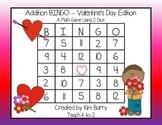 Addition BINGO With 2 Dice - Valentine's Day Edition