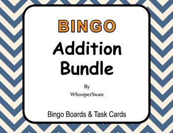Addition - BINGO and Task Cards Bundle