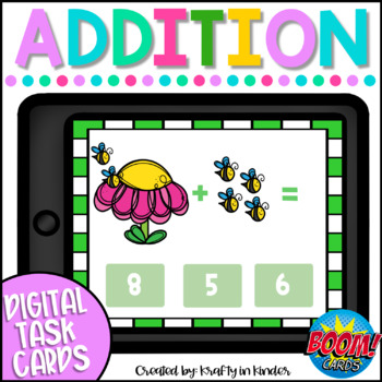 Addition BOOM CARDS Digital Task Cards