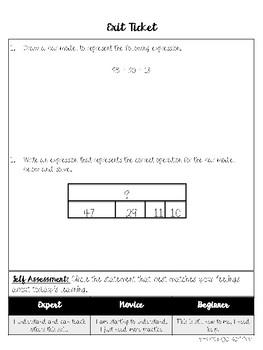 Addition Bar Models Mini Lesson Packet