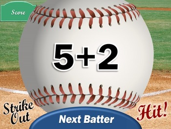 Addition Baseball PowerPoint Game for the Math Classroom
